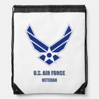 U.S. Air Force Veteran Drawstring Backpack