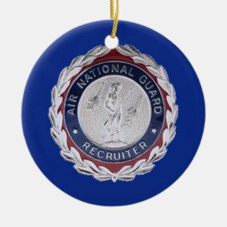 U.S. Air National Guard Recruiter Badge Round Ceramic Decoration