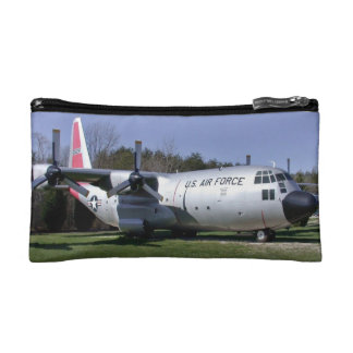 U.S Aircraft with trees and blue sky in background Cosmetic Bag
