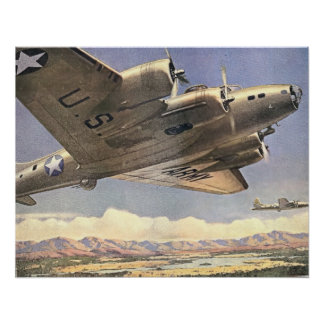 U S Army Bomber Print