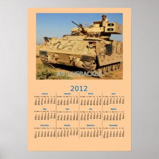 U.S. Army M6 Linebacker Calendar Poster