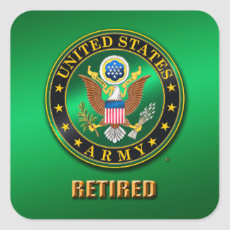 U.S. ARMY RET Square Stickers