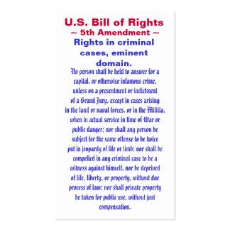 U.S. Bill of Rights, ~ Fifth (5th) Amendment ~ Business Card Templates