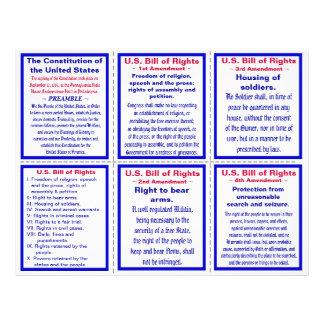 U.S. Bill of Rights Pocket Pamphlet 21.5 Cm X 28 Cm Flyer