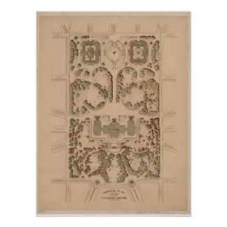 U.S. Capitol Grounds Architectural Plans (1874) Poster