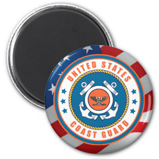 U.S. Coast Guard Captain 6 Cm Round Magnet