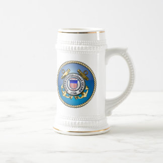 U.S. Coast Guard Emblem Beer Stein