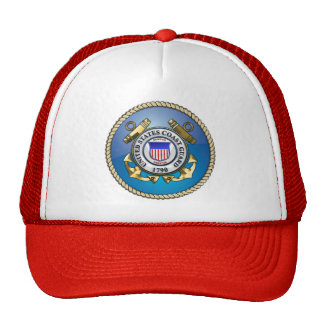 U.S. Coast Guard Emblem Mesh Hats