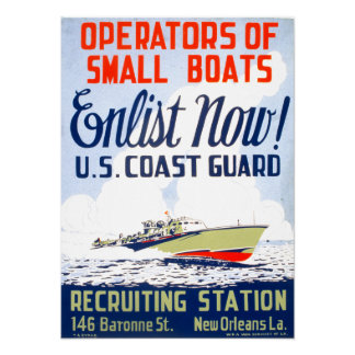 U. S. Coast Guard - Enlist Now ! Poster