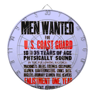 U S Coast Guard Men Wanted 1914 Dartboard