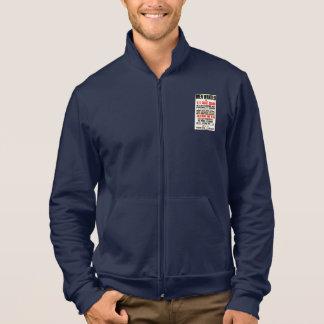 U.S. Coast Guard Men Wanted 1914 Fleece Zip Jogger Printed Jackets