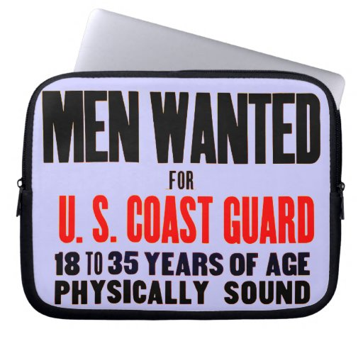 U.S. Coast Guard Men Wanted 1914 Laptop Computer Sleeves