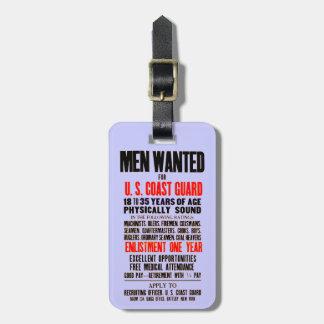 U S Coast Guard Men Wanted 1914 Tag For Luggage