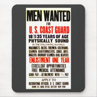 U S Coast Guard Men Wanted 1914 Mousepad