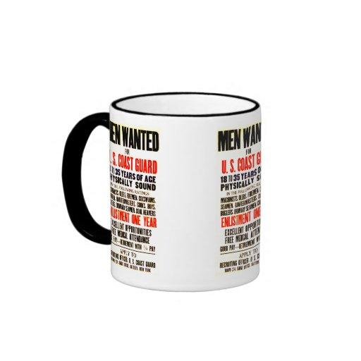 U.S. COAST GUARD MEN WANTED 1914 COFFEE MUGS