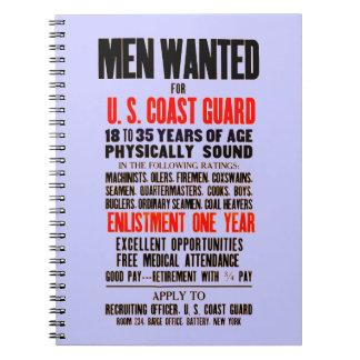 U S Coast Guard Men Wanted 1914 Notebook