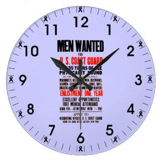 U S Coast Guard Men Wanted 1914 Wall Clock
