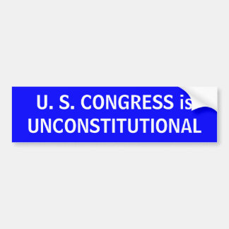 U. S. CONGRESS CAR BUMPER STICKER