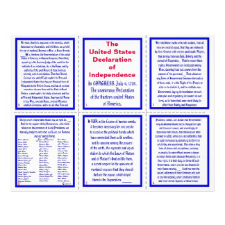 U.S. Declaration of Independence Pocket Pamphlet 21.5 Cm X 28 Cm Flyer