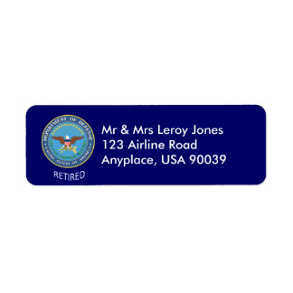 U.S. Defense Department Retired Label