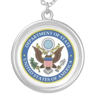 U.S. department logo Round Pendant Necklace