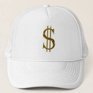 $ U.S.dollar sign gold Trucker Hat