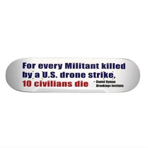 U.S. Drone Strike Militant Civilian Kill Ratio Skateboard Deck