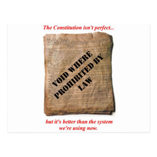 U.S.E the Constitution Postcard