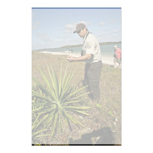 U.S. Fish and Wildlife employee looking at yucca p Personalized Stationery