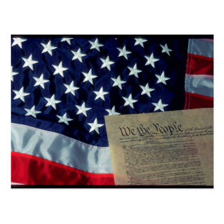 U.S. Flag and Constitution Postcard