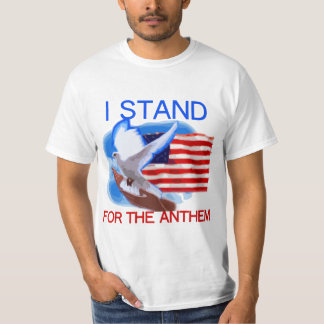 U.S. Flag and Dove I Stand For The Anthem T-Shirt