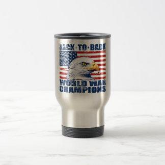 U.S. Flag & Eagle World War Champions Mugs