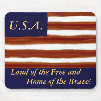 U.S. Flag Personalized Mouse Pad