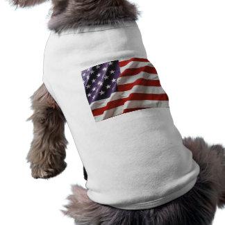 U.S. Flag T-shirt Sleeveless Dog Shirt