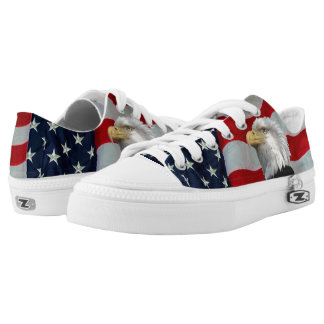 U S FLAG WITH BALD EAGLE LOW TOPS