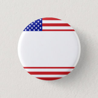 U.S. Flag - Write Your Own Text 3 Cm Round Badge