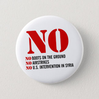 U.S. Intervention in Syria 6 Cm Round Badge
