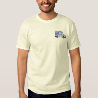 U.s. Mail Truck Embroidered T-Shirt
