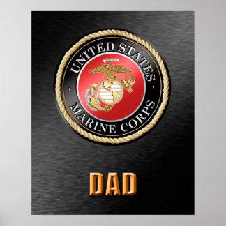 U.S. Marine Corps Dad Poster