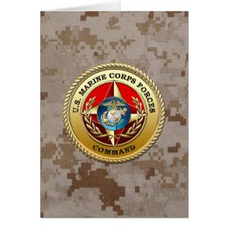 U.S. Marine Corps Forces Command (MARFORCOM) [3D] Greeting Card