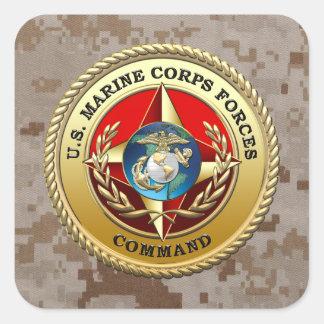 U.S. Marine Corps Forces Command (MARFORCOM) [3D] Square Sticker