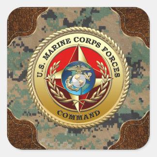 U.S. Marine Corps Forces Command (MARFORCOM) [3D] Square Stickers