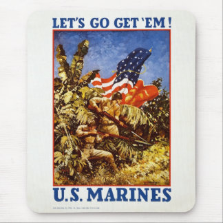 "U.S. Marine Corps ""Let's Go Get 'Em"" Poster Mouse Pad"