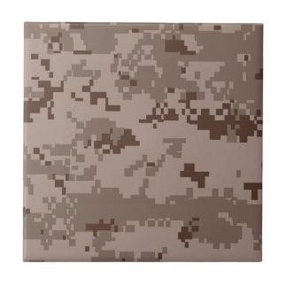 U.S. Marine Corps Marpat Desert Camouflage Small Square Tile