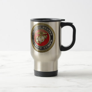 U.S. Marine Corps (USMC) Emblem [3D] Stainless Steel Travel Mug