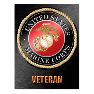 U.S. Marine Corps Veteran Postcard