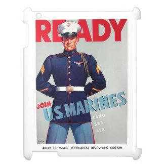 """U.S. Marine Corps Vintage """"Ready"""" iPad Case"""