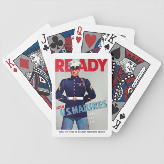 "U.S. Marine Corps Vintage ""Ready"" Poster Bicycle Poker Deck"