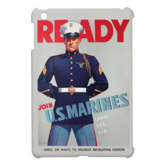 """U.S. Marine Corps Vintage """"Ready"""" Poster Cover For The iPad Mini"""
