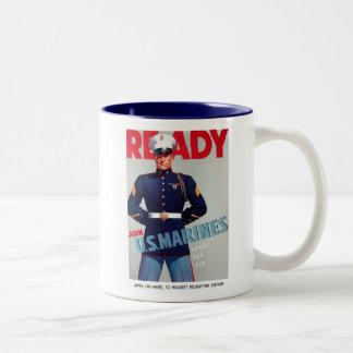 "U.S. Marine Corps Vintage ""Ready"" Poster Mug"